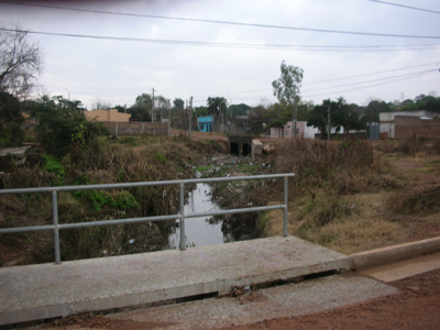 Desde este punto calle 15 de Noviembre al Norte de Guaraní surgen los mayores problema