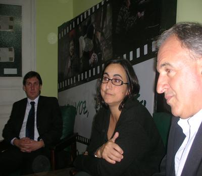 Sebastián Tognascioli, Ec. Jimena Pardo y Soc. Diego Moles, en EL PUEBLO.