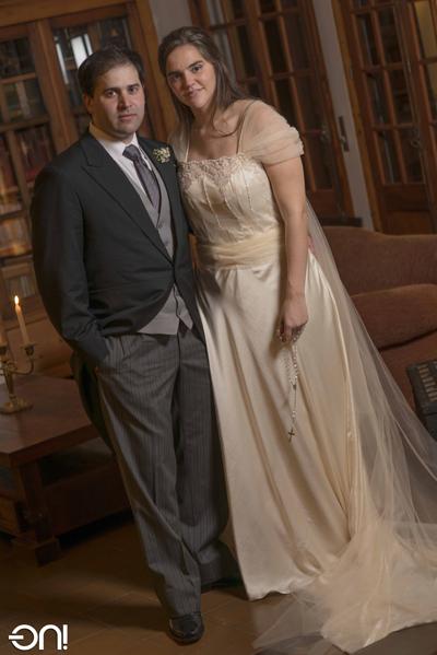 Agustín Romero Mannise - Antonella Bruzzone Zunini - el día de su boda - foto ON