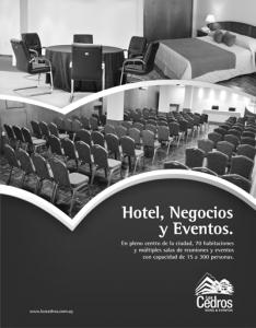 Hotel Los Cedros - Aviso 25 x 32 cm para Suplemento GRISES
