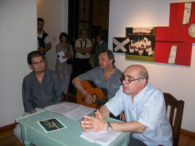 Luis Dos Santos, Ruben Ciocca y Roberto Agulla
