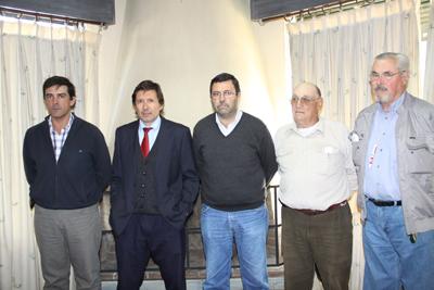 Álvaro Arrieta, Diego Simonet, Ariel Pereira, Wiston Galluzzo, y Gary Texeira Núñez
