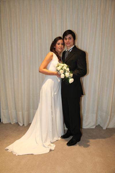José Luis Lombardo - María Lorena  Lluberas -el día de su boda - foto Luis Massarino