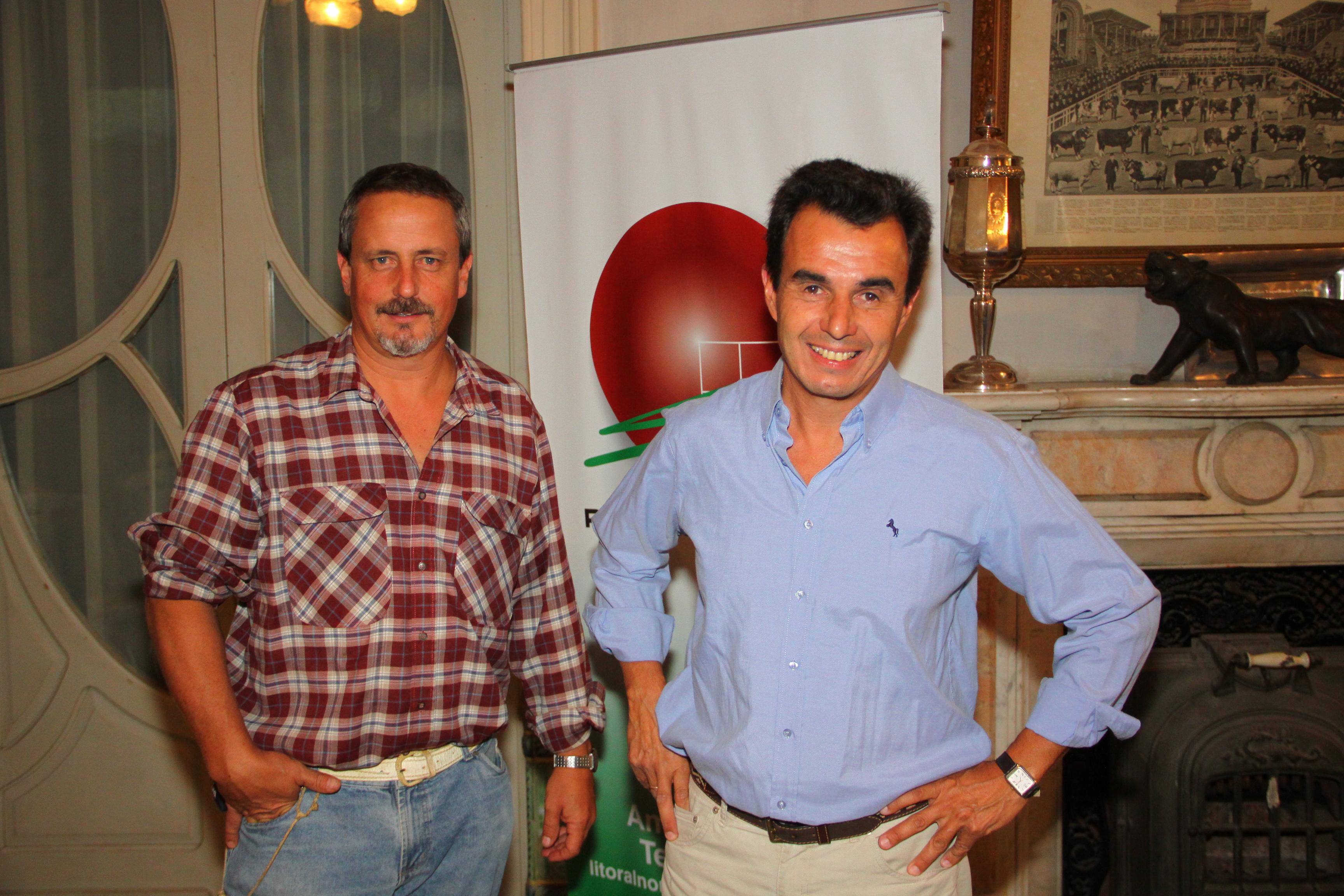 Esteban Montes y Carlos Molina -Técnicos del Instituto Plan Agropecuario