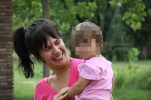 Javina sacrificó lo personal para acompañar a su esposo,  uno de los participantes en la experiencia.