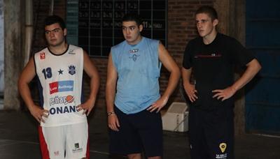 Gabriel Silva, Nicolas Barla y Mathias Rivas