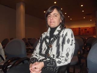 Con la Doctora  Gabriela Álvarez. Coordinadora de la Unidad de Cuidados Paliativos.