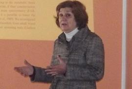 Con  la Doctora Bioquímica, Graciela Queiruga.