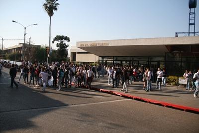 La manifestación estudiantil tuvo distintas repercusiones.