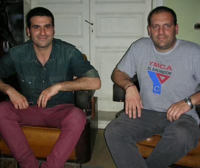 Yamandú Cardozo y Guillermo en la Redacción de EL PUEBLO.