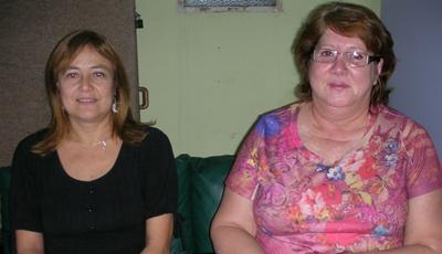 Rosario Parentini y Elizabeth Nessi