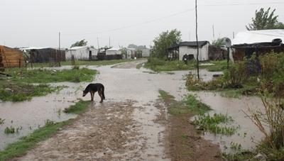 El pasaje del arroyo Ceibal en la continuación de Misiones se transformó en un río.