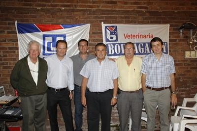 Dr. Adolfo Bortagaray Farinha, Dr. Jaime Grill, Ismael Álvarez, Octalibio Da Silva, Dr. Ricardo Pérez Rama y Dr. Adolfo Bortagaray Sabarrós