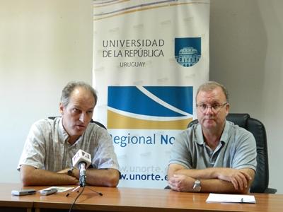 Gregory Randall y Alejandro Noboa.