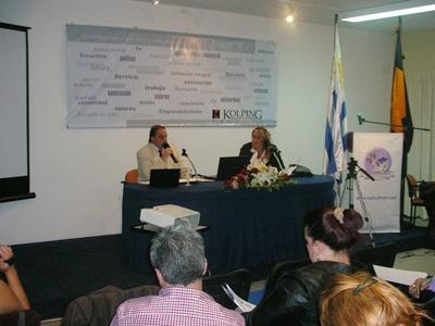 El criminalista Gabriel Pombo y la psicóloga Adriana Salvo. (Foto diario EL PUEBLO)
