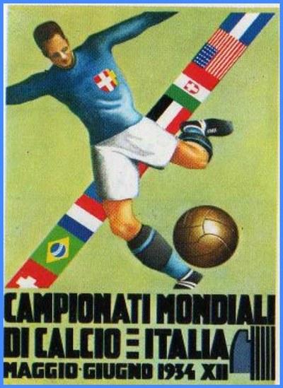 El afiche oficial del Mundial de 1934.