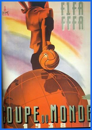 El afiche oficial del Mundial de 1938.