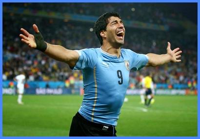 El festejo esperado: Suárez destrozó los sueños de Inglaterra  con dos goles inolvidables.