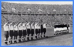 Los equipos debían hacer el saludo fascista en cada partido.