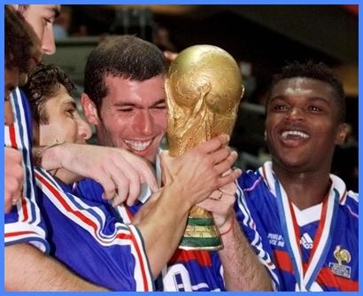 Zidane disfruta de la Copa del Mundo, la única que logró Francia en su historia.