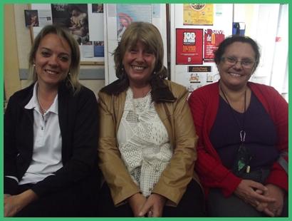 Grupo de Fibromialgia.Nancy Orihuela, Magela Roca, y Clarita Perez.