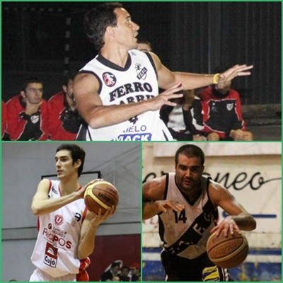 Diego Cervieri, Fernando Ferreira y Aurelio Borsani
