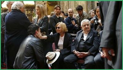 Soledad Silveira y Mujica en el velatorio