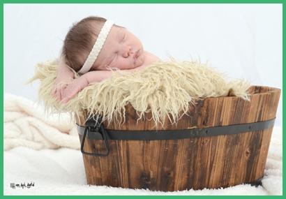 En la fotografía la recién nacida Isabella Grilli Pintos
