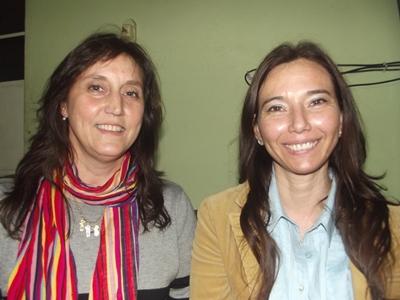 Con las Licenciadas  en Enfermería:  Milagros Rodríguez  y Julia Monje