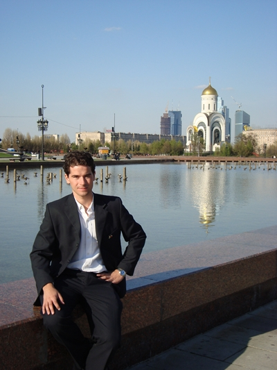 Alan en San Petersburgo.