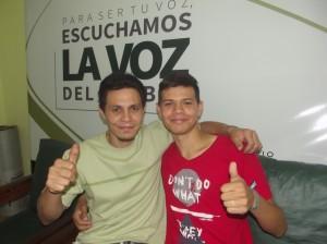 Wilson Alvez y su hijo.