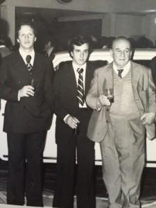 Walter Rocca, junto a MIguel y al abuelo Barbieri