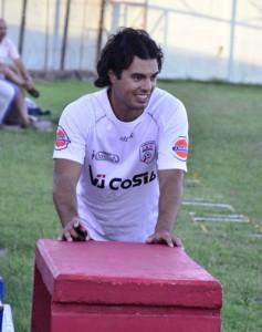 """Marcelo """"Cunfi"""" Menoni en su segundo día de práctica ayer en el Estadio Ernesto Dickinson"""