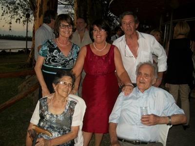 Orlando y Ruba con sus tres hijos: Teresita, Rocío y Orlando (h)