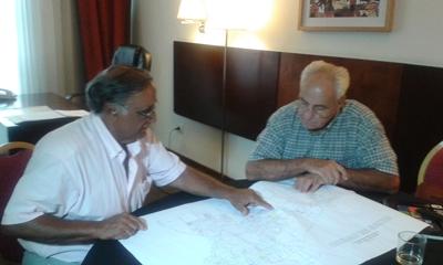 Fonticiella con el futuro Ministro de Transporte y Obras, Víctor Rossi