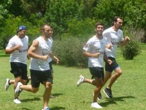 Yeikol Prado, Carlos Regueira, Facundo Granja, Franco Da Silva y Elbio Conti.