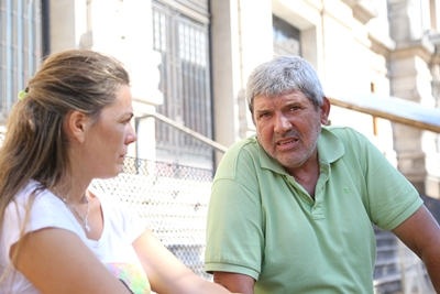 El sindicalista Gustavo Signorelli con EL PUEBLO