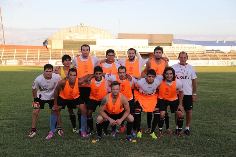 La oncena titular de Salto junto con Fabricio Añasco y Ramón Rivas