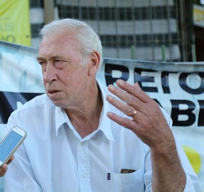 Con Juan Ángel Betteato, un representante  de la vieja guardia del fútbol uruguayo