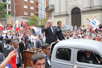 La fórmula presidencial recibió el cariño popular durante los actos