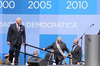 La llegada de Mujica, uno de los momentos más esperados por los presentes