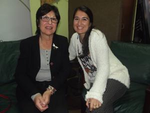 Diana Muffolini e hija