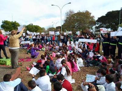 alumnos y publico presentes