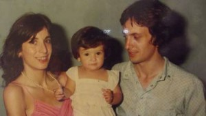 Con su primer hija