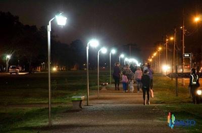 Iluminación de la peatonal