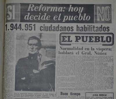 PORTADA DE EL PUEBLO DOMINGO 30 DE NOVIEMBRE DE 1980