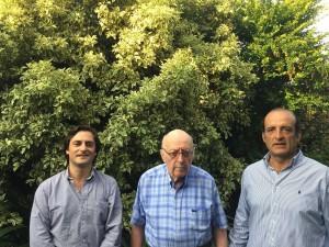 Fernando, Horacio y Gonzalo Indarte