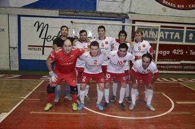 """Equipo de Ceibal Futsal, que esta noche enfrenta al """"rojo"""" Universitario en instancia de play offs (al mejor de dos partidos) por el cuarto lugar en el cuadrangular final de Liguilla"""
