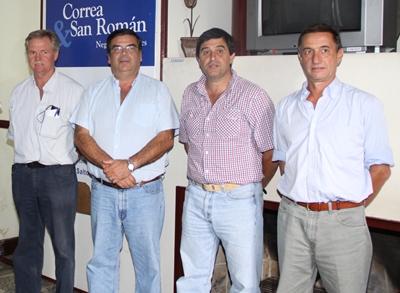 Alejandro Stirling, Martín San Román, Diego Otegui y Carlos Martín Correa. Foto: Archivos de EL PUEBLO