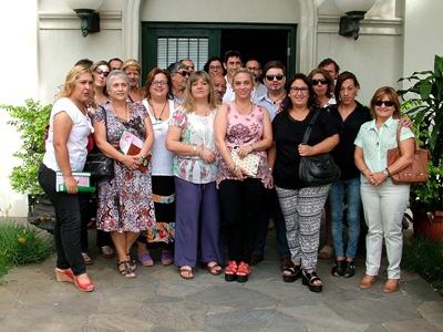 Integrantes de la Secretaría de Género y representantes de la  comunidad organizada participación del lanzamiento ayer